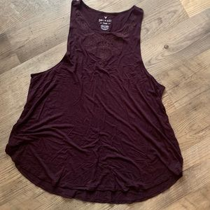 American Eagle high neck tank in plum. Size XXL
